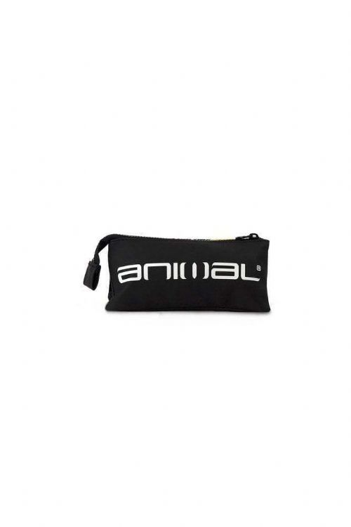 ANIMAL BOYS PENCIL CASE.SIDEKICK 3 POCKET BLACK YELLOW SCHOOL STATIONERY 8W 3 2